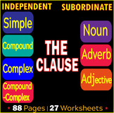 Kinds of Sentences | Independent Clauses | Subordinate Clauses | ELA Bundle