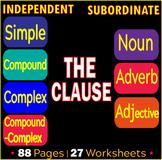 Kinds of Sentences | Independent Clauses | Subordinate Clauses | ELA Bundle