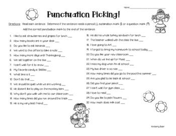 Kinds of Sentences Pack - 3 worksheets - Declarative, Interrogatory, Exclamatory