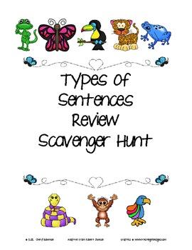 Kinds of Sentences Review Scavenger Hunt