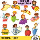 Kinds on Floating Foods Clip Art (FULL COLOR ONLY)