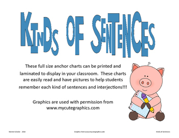 Kinds or Types of Sentences Posters