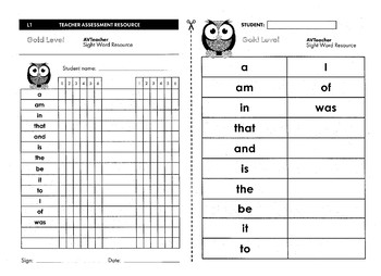 Kindy Basic Sight Word Booklet