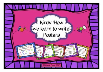 Kindy 'How We Learn to Write' Posters