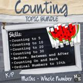 WHOLE NUMBERS BUNDLE Kindergarten Prep Counting to 30 Activities