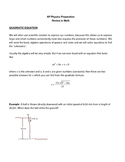 Kinematics: 1D and 2D