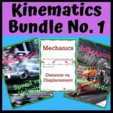 Kinematics Bundle No. 1: Distance, Displacement, Speed, Ve