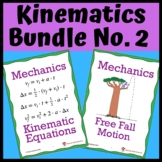 Kinematics Bundle No. 2: One Dimensional Horizontal & Free