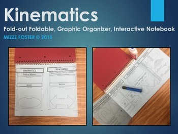 Kinematics: Speed / Velocity Graphic Organizer Foldable for Interactive Notebook