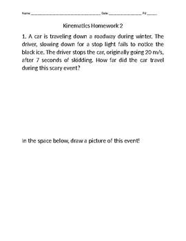 Kinematics Homework 2