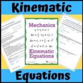 Kinematics: Kinematics Equations, One Dimensional Horizont
