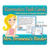 Kinematics Task Cards - 30 Dinosaur Themed Cards to Teach Physics