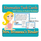 Kinematics Task Cards - 30 Dinosaur Themed Cards to Teach Physics