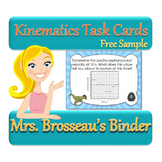 Kinematics Task Cards - FREE Sample of 8 Dinosaur Themed C