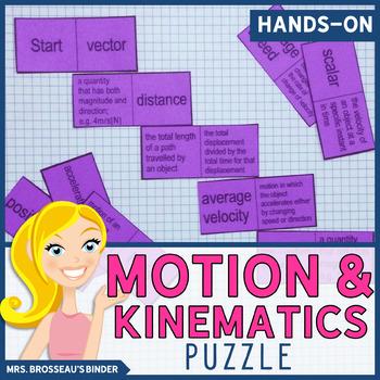 Kinematics Terms Domino Puzzle - Physics Vocabulary