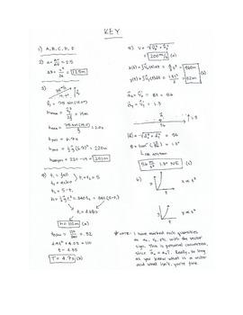 Kinematics Test/Quiz