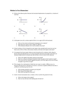 Kinematics Unit Practice Problems