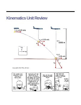 Kinematics Unit Practice Problems