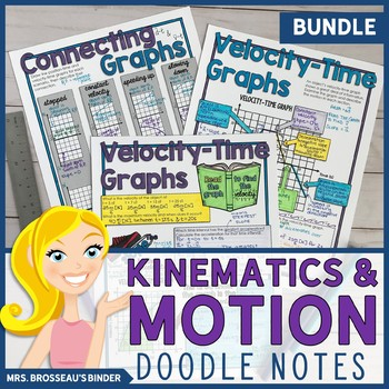 Kinematics and Motion Doodle Notes Bundle for Physics