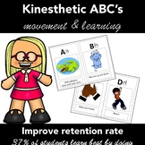 Kinesthetic Letters of the Alphabet -  for Struggling Earl