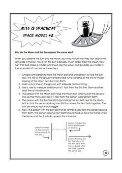 Kinesthetic Space Model: Why do the Moon and Sun appear the same size?