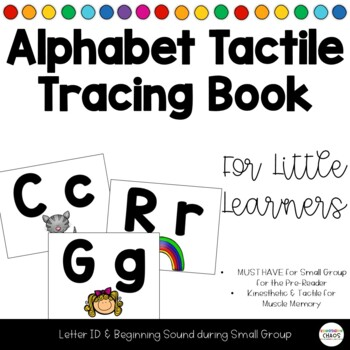 Kinesthetic Tactile Alphabet Tracing Pages for Alphabet Book