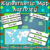 Kinesthetic World Map Activity {Freebie}
