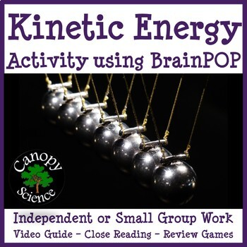 Kinetic Energy Activity using BrainPOP by Canopy Science | TpT