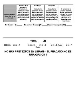 Kinetic Energy & Mass Lab (DUAL LANGUAGE SPANISH)