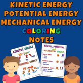 Kinetic Energy, Potential Energy and Mechanical Energy Coloring Notes