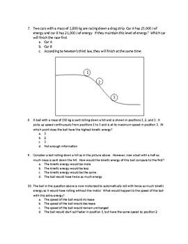 Kinetic Energy Quiz