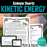 Kinetic Energy Reading Comprehension Passage