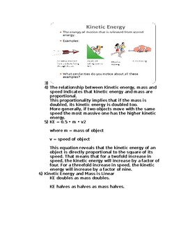 Kinetic Energy Worksheet M.S.-P.S.-3-1