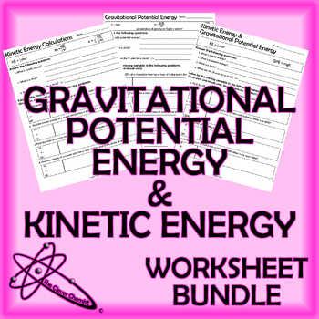Potential Energy Worksheet Teaching Resources | Teachers Pay Teachers