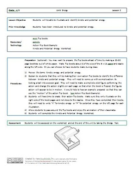 Kinetic Energy and Potential Energy Lesson Plans