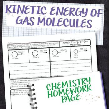 Kinetic Energy of Gas Molecules Chemistry Homework Worksheet