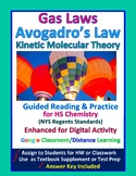 Gas Laws, Kinetic Molecular Theory Guided Reading & Practice - Distance Learning