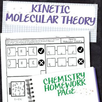 Kinetic Molecular Theory Chemistry Homework Worksheet