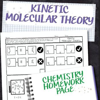 Kinetic Molecular Theory Chemistry Homework Worksheet By Science