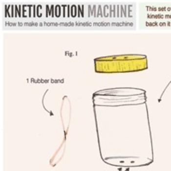 Kinetic Motion Machine Toy Science Experiment Blueprints