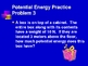 Kinetic & Potential Energy Calculations (KE PE )