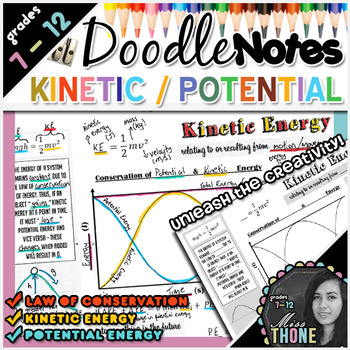 Kinetic & Potential Energy Doodle Notes