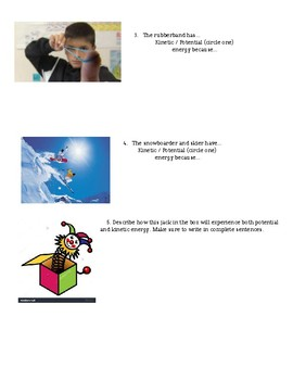 Kinetic & Potential Energy Quiz