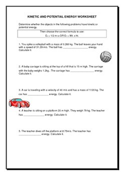 Kinetic & Potential Energy worksheet by JAG Education | TpT