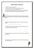 Kinetic & Potential Energy worksheet