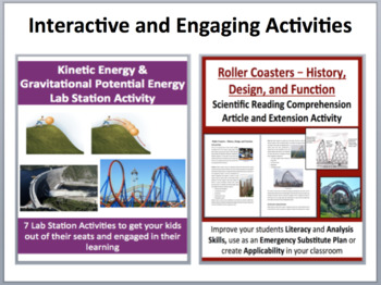 Kinetic and Gravitation Potential Energy - Complete 5E Lesson Bundle