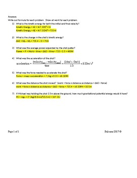 Kinetic and Potential Energy  SC.6.P.11.1
