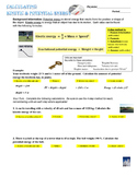Kinetic and Potential Energy Calculations
