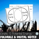 Kinetic and Potential Energy Interactive Notebook Foldable