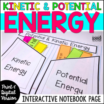 Kinetic and Potential Energy Interactive Notebook Page